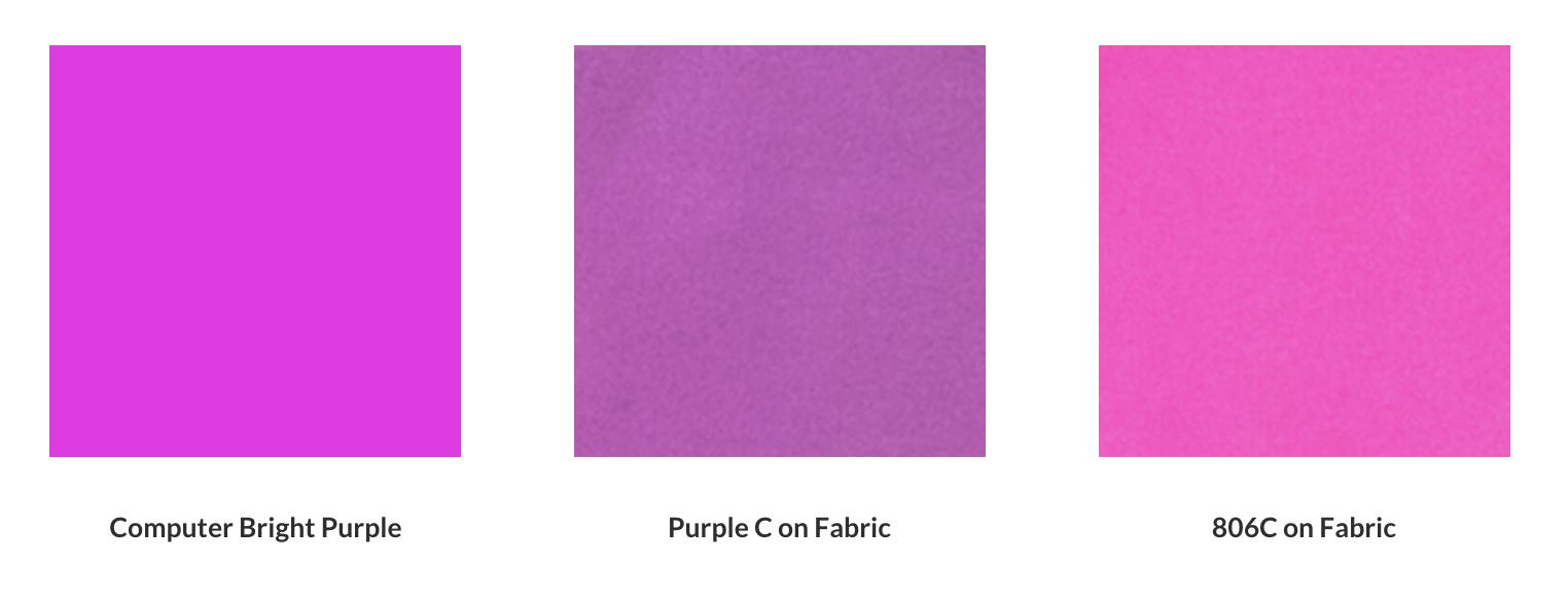 Color : Computer Screen vs. Printed Ink