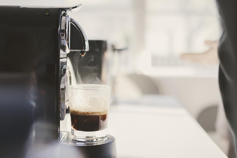 Preparing some morning espresso.